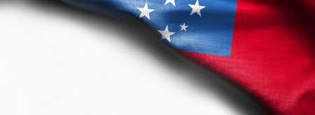 Flag of Samoa - on white background Standard-Bild - 105810352
