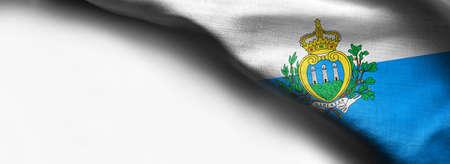 San Marino waving flag on white background Standard-Bild - 105810354