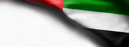 Flag of United Arab Emirates on white background