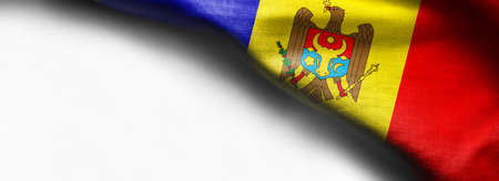 Moldova Waving Flag on white background