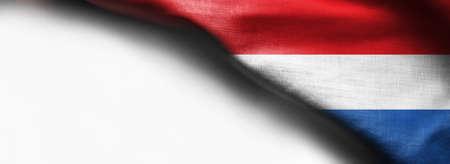 Amazing Flag of Netherlands, Europe on white background Standard-Bild - 105810368
