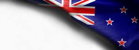 New Zealand waving flag on white background Standard-Bild - 105810372