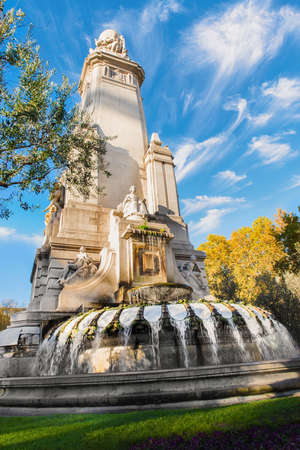 Madrid city monuments Stock Photo