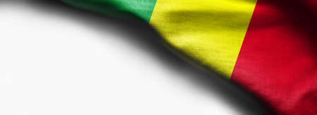 Mali flag on smooth texture on white background