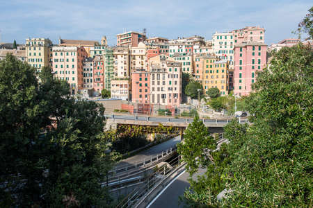 Views of Genoa city, Italy, Trabel Europe, Stock Photo