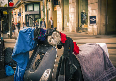 Streets of Paris, France - Travel Europe - October Standard-Bild - 115454181