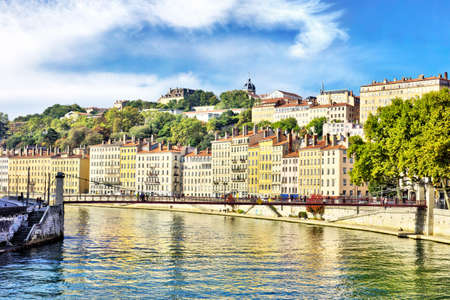 Cityscape of Lyon, october, France, october Standard-Bild - 118619215