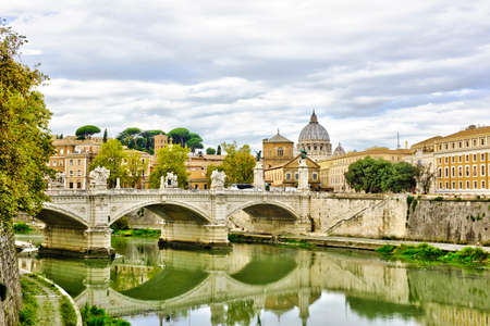 Wonderful view of St Peter Cathedral, Rome, Italy Stock Photo