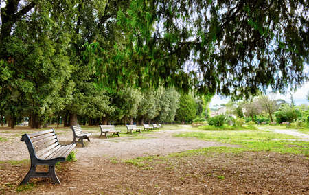 beautiful park of Villa Borghese in Rome, Italy