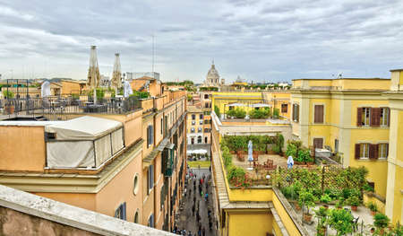 Beautiful panoramic cityscape of Rome, Italy, travel Europe, Standard-Bild