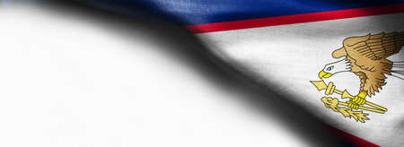 Flag of American Samoa on white background