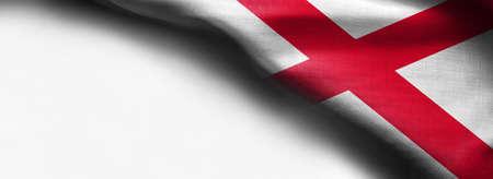 Flag of Alabama on white background