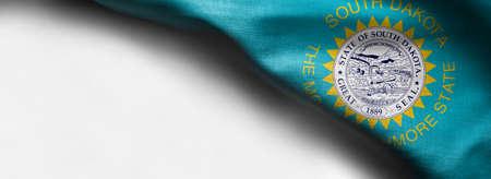 Fabric texture of the South Dakota flag.