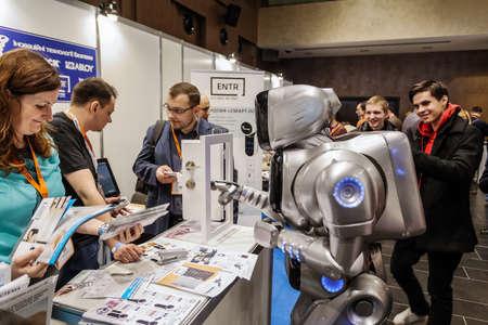 キエフ, ウクライナ - 2016 年 2 月 24 日: 技術革新とロボットと人工知能の tehnologies