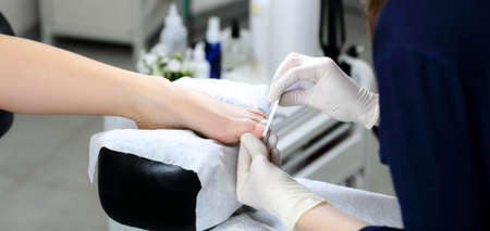 chiropody: Foot and hand of the master chiropody, which makes high-quality pedicures