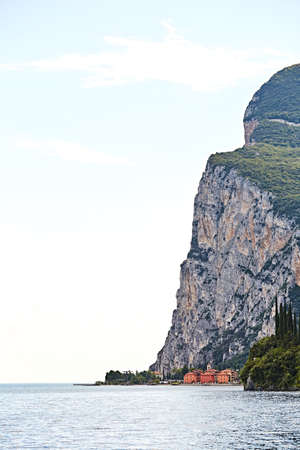 Lake Garda in Italy, on background of mountains