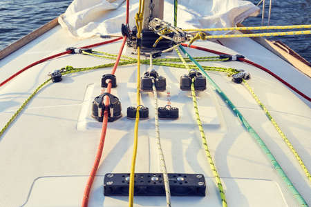 pitman: Properly equipped workplace for yacht Pitman, for halyard management.