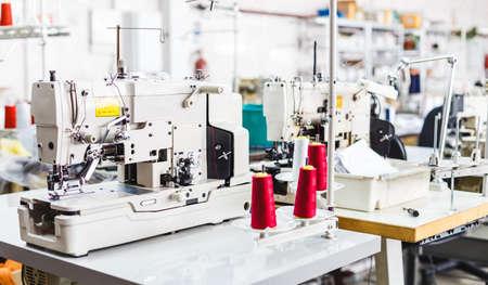 제조 공장 맞춤형에 대 한 전문 타자기의 닫습니다. 섬유 : 산업용 자수 기계. 스톡 콘텐츠