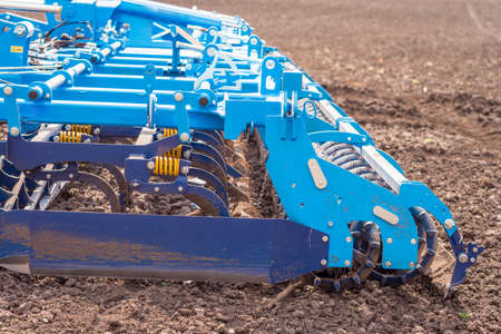 Soil plow for preparation for planting is ready to use Stok Fotoğraf