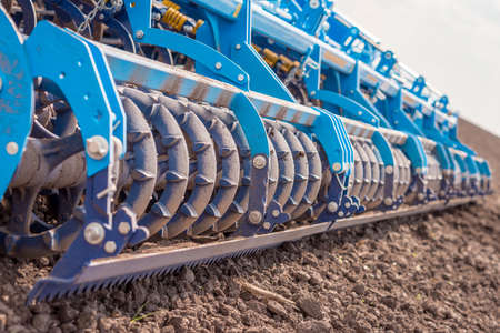 Soil plow for preparation for planting is ready to use Stock Photo