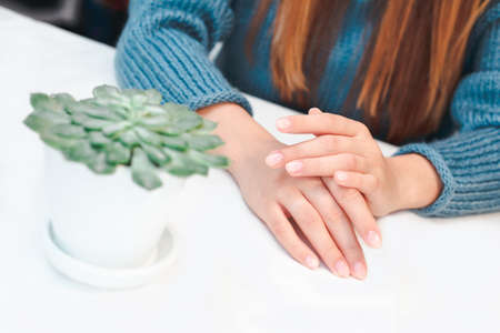 Woman hands care