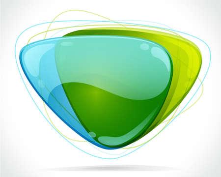 Information icon green bubbles Illustration