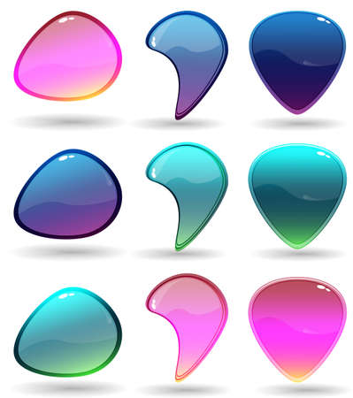 Information icon color bubbles Illustration