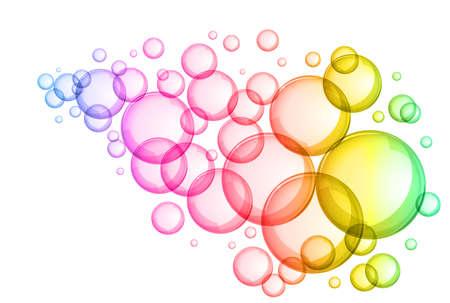 Résumé des bulles de savon vecteur de conception de fond