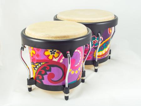 bongo: Colorful bongo on white background