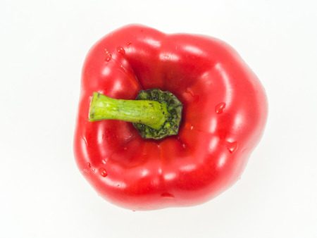 capsicum plant: Sweet pepper on white background