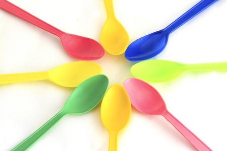 plastic spoon: Plastic Spoon Stock Photo