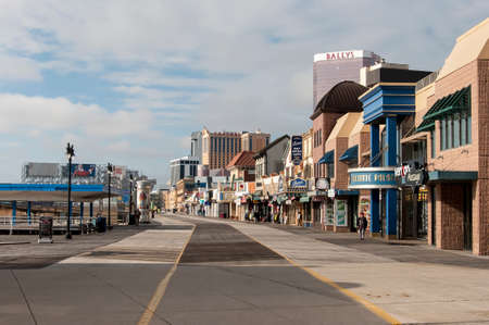 The boardwalk of Atlantic City, NJ 新闻类图片