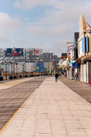 atlantic: The boardwalk of Atlantic City, NJ Editorial