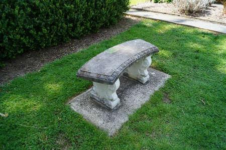 Een stenen bank