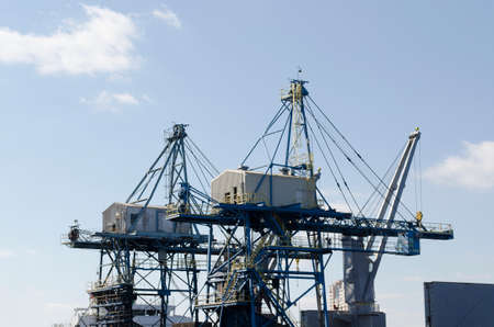 dockside: Dockside cranes Stock Photo