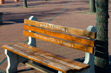 fells: A bench in the park Stock Photo
