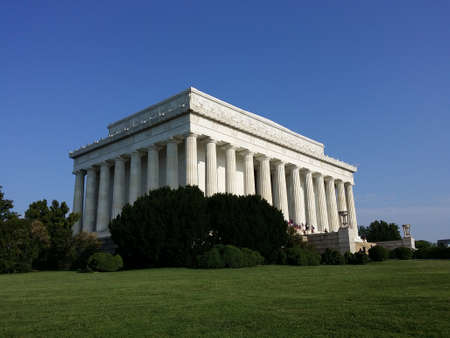 dc: The Lincoln Memorial in Washington, DC Stock Photo