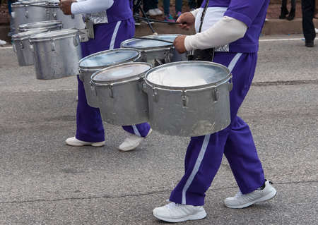marchers: Drums in a parade