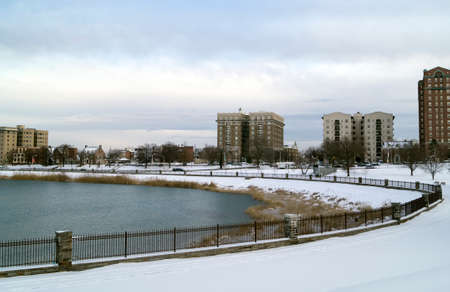 The lake of Druid Hill Park