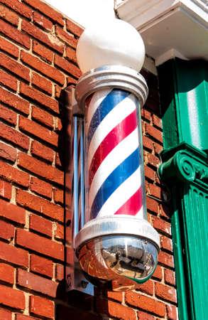 barbershop: A barbershop sign