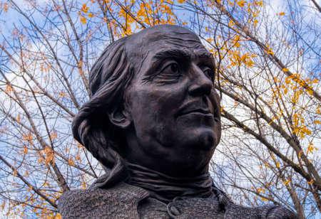 A Ben Franklin statue