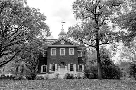 historic district: A historic house in the Historic District of Philadelphia
