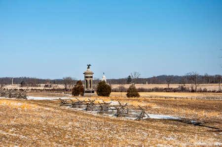 gettysburg battlefield: A statue in Gettysburg