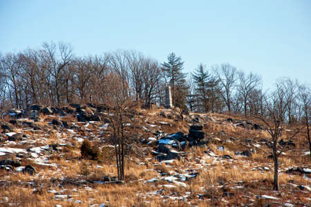 warzone: A view of Big Round top from the bottom Stock Photo