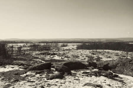 A view from Big Round Top in Gettysbug Stock Photo