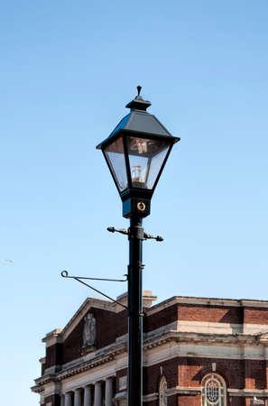 An outside lamp