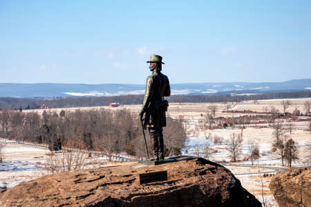 gettysburg battlefield: A view of Big Round Top in Gettysburg