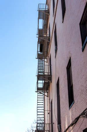 escape: A fire escape on a building