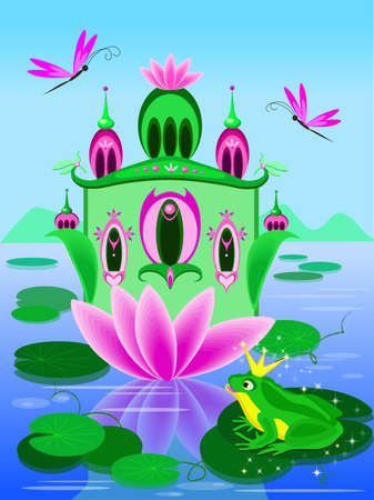 Vector house of frog princess Illustration