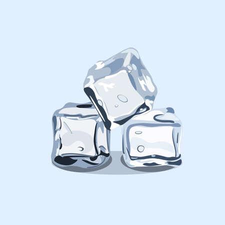 氷のキューブ、ベクター社の青い背景に分離された EPS 10